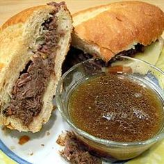 Slow Cooker French Dip Sandwiches on BigOven: Mmmm! So easy!