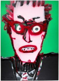 "Skot Foreman Gallery Nick  Vukmanovich ""Portrait XII"" 2001 Acrlyic on canvas    37 x 25 in  94 x 63 cm Hand-signed ""N Vukmanovich"""
