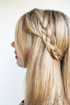 Hair Romance - four strand braid - version 1