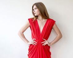 Red Dress Evening Maxi Dress by BLUSHFASHION on Etsy, $162.00