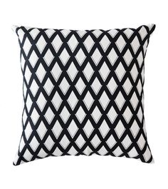 Home :: Homewares :: Decorator Items :: Cushions :: Greg Natale Trellis Cushion - Black and White Printed Cushions, Throw Cushions, Black And White Cushions, Bold Prints, Leather Material, Natural Linen, Trellis, Pattern, Design