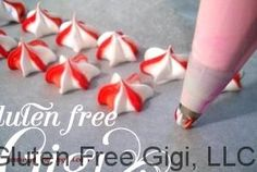 Gluten-free Meringue candy peppermint stars