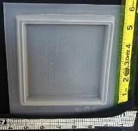 4 inch square plastic resin mold - use for tiles or coasters $3.99