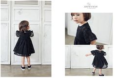 swevenベールワンピース(ブラック)/韓国子供服GILLI+++はAmber,annikaなどのかわいい子供服通販店