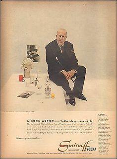 0 Charles Coburn  - 1950's Vintage ad for Smirnoff Vodka