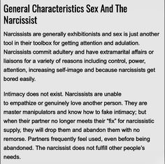 Spot on, with friends, husbands colleagues, husbands of both friends and family. Nothing and no one is sacred, there are no boundaries that won't be crossed! Narcissistic People, Narcissistic Abuse Recovery, Narcissistic Personality Disorder, Narcissistic Sociopath, Truth Hurts, It Hurts, Toxic People, Emotional Abuse, Amazing Quotes