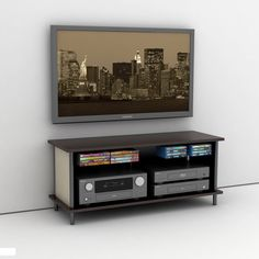 Epic 3 in 1 TV Stand and Mount offers a gamut of features and boasts both design and function. This 3 in 1 solution gives the option to mount your flat panel TV Gaming Entertainment Center, Home Entertainment Furniture, Entertainment Shelves, Tv Stand Game, Diy Tv Stand, Wall Mount Tv Stand, Tv Stand With Mount, Simple Tv, Tv Accessories