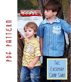 PDF Sewing Pattern:  The Everyday Camp Shirt Infant-Toddler (Instant Download)