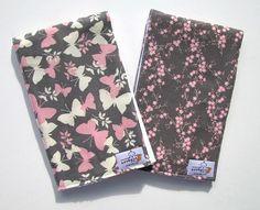 Butterfly Burp Cloth Set by ZerbertBaby on Etsy, $15.00