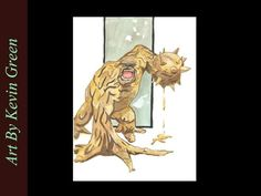 Clayface Watercolor (speed painting)