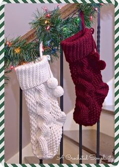 Big Bold Cabled Stocking Crochet Pattern by A Crocheted Simplicity