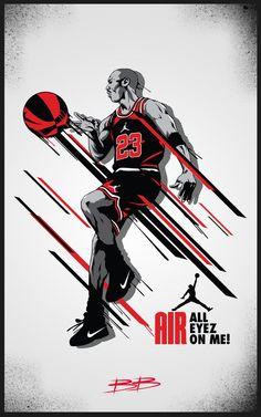Michael Jordan The illustration by BOKULA : http://bokula.deviantart.com/