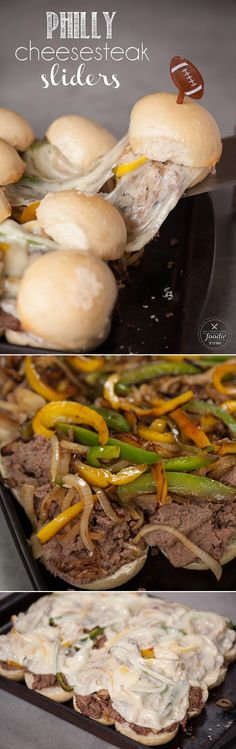 Transform a beef roast along with some sauteed peppers and onions and provolone into these tasty Philly Cheesesteak Sliders.