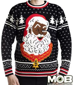 Hip Hop Santa Pullover Holiday Sweater – Middle of Beyond