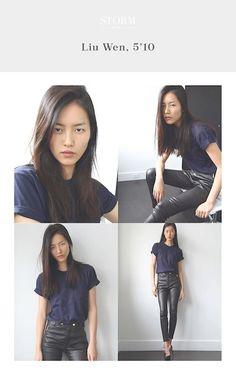 Liu Wen || Storm Model Management (Polaroids/Digitals)