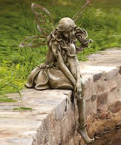 Take a look at this Thoughtful Lady Fairy Statue by Evergreen on #zulily today!