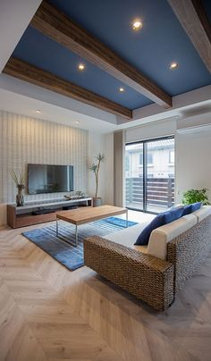 Interior Living Room Design Trends for 2019 - Interior Design My Living Room, Home And Living, Living Room Decor, Room Interior, Home Interior Design, Interior Decorating, Home Ceiling, Japanese Interior, Room Colors