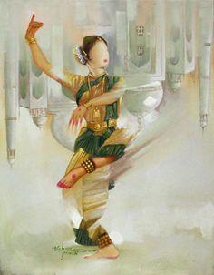 aum108:  Indian Classical Dancer by Vishnu Pawan