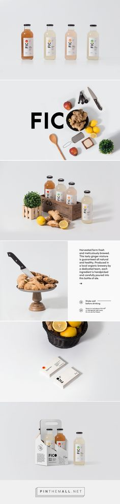 FICO Ginger Craft Ale on Behance curated by Packaging Diva PD. Latching on to ideals for transparency of the brand, we wanted to translate that to its branding and packaging as well. I love ginger.