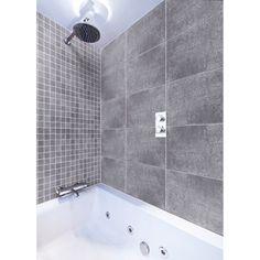 Carrelage intérieur en grès cérame émaillé Vestige, gris, 30x60cm | Leroy Merlin