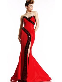 Holy Sheath/column Sweetheart Neckline Side Split Sweep Train Beadings Evening Dress