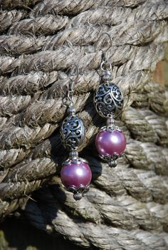 Western Rodeo Cowgirl Earrings  Purple by SolisOccasusBling