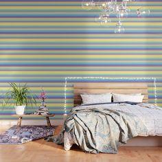 Complex Stripes - Pastel Rainbow Wallpaper by laec Rainbow Wallpaper, Peel And Stick Wallpaper, Color Stripes, Wood Wall Art, Pattern Wallpaper, Rainbow Colors, Wall Tapestry, Wall Murals, Pastel