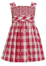 Bonnie Jean® Ruched Seersucker Dress Girls 4-6X