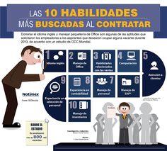 Las 10 habilidades más buscadas al contratar #infografia #infographic #empleo
