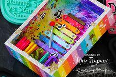 Lots of Inky Techniques! Rainbow Xylophone Vignette + Blog Hop! | Nina-Marie Design