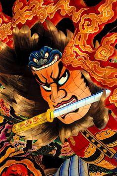 Illuminated samurai lantern at the Nebuta Festival in Aomori, Aomori Prefecture (© smoke - Fotolia.com)