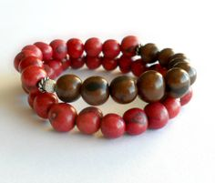 Cranberry Dark Chocolate Acai Bead by theblackstarboutique on Etsy, $38.50