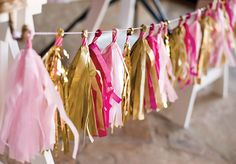 DIY Tutorial: Tissue Tassel Garland