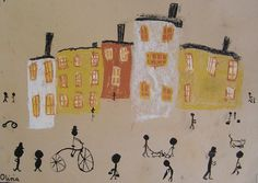 Victorian artwork for Craft Circus. Artist Lowry on Townscapes.