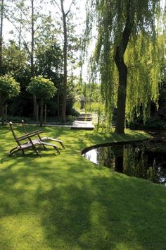 56 Backyard Ponds And Water Garden Landscaping Ideas (9) Pond Landscaping, Ponds Backyard, Garden Pool, Garden Trees, Water Garden, Garden Art, Residential Landscaping, Mailbox Landscaping, Landscaping Images