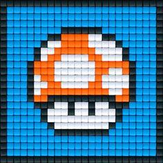 Mario Paddenstoel Oranje | Pixel Party
