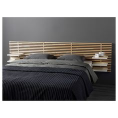 MANDAL Tête de lit, bouleau, blanc, 240 cm - IKEA Bed Frame With Drawers, Headboard With Shelves, Ikea Bedroom, Bedroom Decor, Ikea Mandal Headboard, Headboards, Bed Storage, Wood Shelves, Space Saving