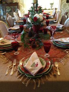 1225 Best Christmas Tablescapes Images In 2019