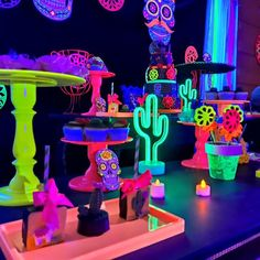 I want a party like that. Send a message today and secure your data with pre . 13th Birthday Party Ideas For Girls, Neon Birthday, 13th Birthday Parties, 14th Birthday, Teen Party Games, Sleepover Party, Slumber Parties, Quince Themes, Sleepover Activities