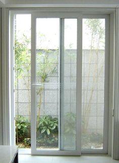 Balcony glass slide door