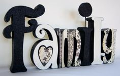 Painted Wooden Letters | Wooden Letters Hand Painted and Decoupaged Can be customized for your ...