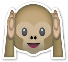 Hear No Evil Monkey | EmojiStickers.com