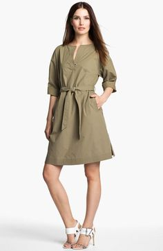 Lafayette 148 New York 'Weekender Cloth' Belted Dress available at #Nordstrom