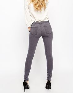 Image 2 of ASOS 'SCULPT ME' Premium Jeans In Walnut Grey