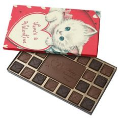 Retro Vintage Valentine cat box chocolate - click to get yours right now!