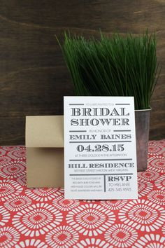 Bridal Shower Classy Invitation by Paperelli
