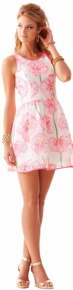 LILLY PULITZER DARCELLE FULL SKIRT PARTY DRESS - Spring 2015