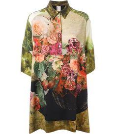 Farfetch - ANTONIO MARRAS crepe floral blouse dress