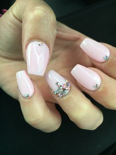 My Nail Design Princess Crown On Top Of A Light Pink Brown Acrylic Powder And Gel Coat Ideas Pinterest Nails Designy