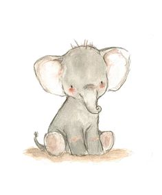 Little Elephant Print | zulily